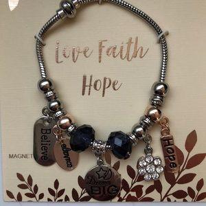 Faith Hope and Love bracelet.